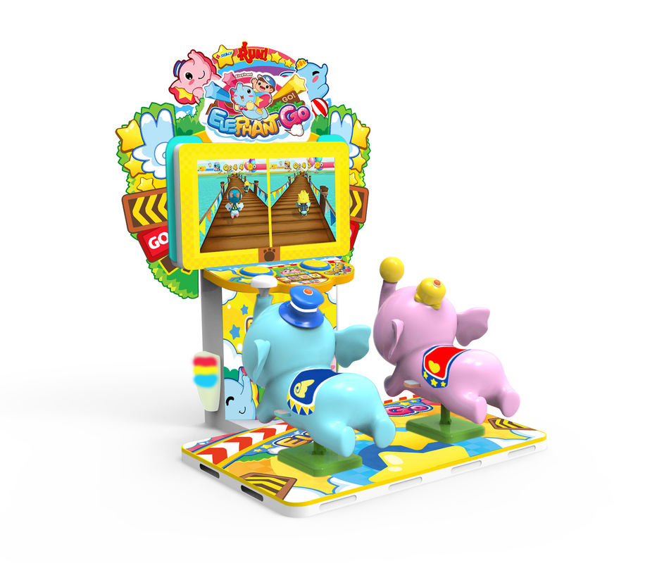 Elephant Go Theme Coin Operated Arcade Machines , Sports Arcade Machines