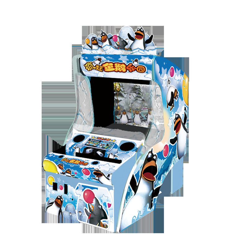Interactive Ball Throwing Game Video Arcade Machines , Arcade Ticket Machine