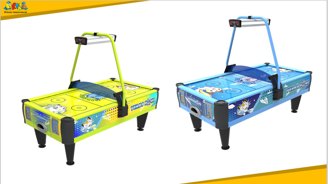 Oem Coin Operated Air Hockey Machine / Token Game Machine With Lifelike Sound Effect